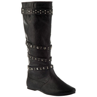 Women's boots with studded strap detail