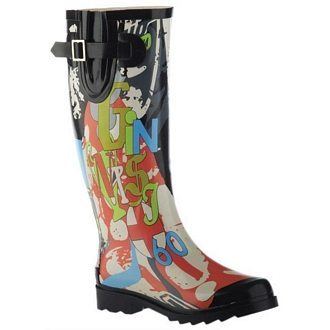 Women's rainboots with print design
