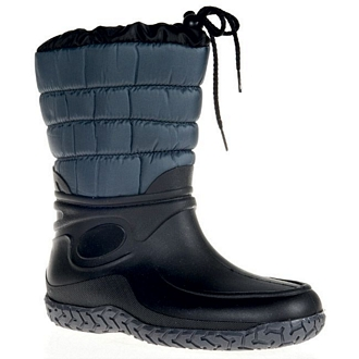 Women's short rainboots with padded shaft, laces and faux fur lining