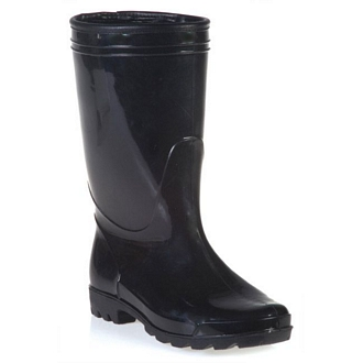 Men's rainboots with faux fur lining