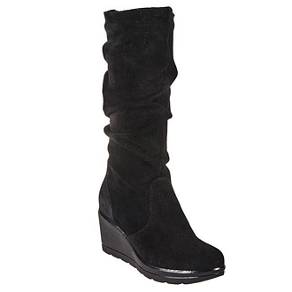 Women's suede boots from Italy