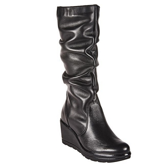 Women's leather boots from Italy