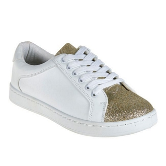 Women's sneakers with golden parts