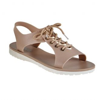 Women's plastic sandal with laces - Mitsuko