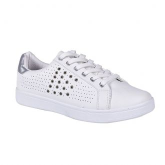 Women's perforated athletic shoes