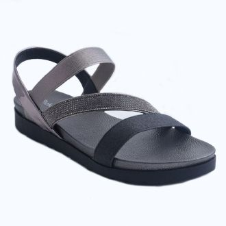 Women's soft sandals with strasses