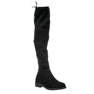 Women's over-knee flat boots with trucks